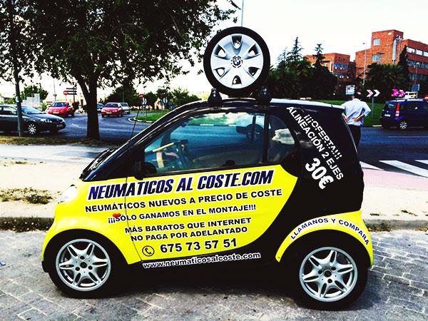 Neumáticos al coste coche