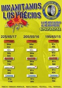 neumáticos más baratos de Madrid